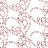 Um teste padrão sem emenda do vetor que caracteriza repetindo corações Esta textura romântica seria ideal para o uso como um proj ilustração royalty free