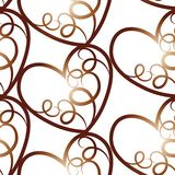 Um teste padrão sem emenda do vetor que caracteriza repetindo corações Esta textura romântica seria ideal para o uso como um proj ilustração do vetor