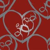 Um teste padrão sem emenda do vetor que caracteriza repetindo corações Esta textura romântica seria ideal para o uso como um proj ilustração stock