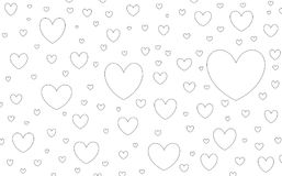 Um teste padrão sem emenda dos corações ilustração do vetor