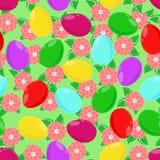 Um teste padrão sem emenda dos ovos da páscoa Imagens de Stock Royalty Free