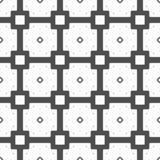 Um teste padrão sem emenda dos quadrados e dos quadrilátero no branco cinzento e preto Fotos de Stock