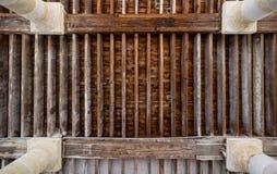 Um teto de madeira Imagens de Stock