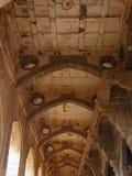 Um teto decorado de um corredor em Ibrahim Roza, Bijapur Imagem de Stock Royalty Free