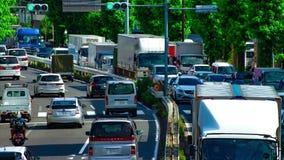 Um timelapse da rua do carro na avenida de Kanpachi na inclinação do dia do Tóquio video estoque