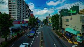Um timelapse da rua do centro na avenida de Kanpachi na inclinação disparada larga do dia do Tóquio filme