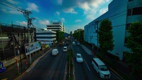 Um timelapse da rua do centro na avenida de Kanpachi na inclinação disparada larga do dia do Tóquio vídeos de arquivo
