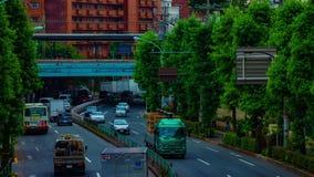Um timelapse da rua do centro na avenida de Kanpachi na inclinação da possibilidade remota do dia do Tóquio filme