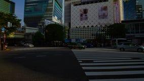 Um timelapse dos povos no cruzamento na inclinação disparada larga do dia do Tóquio de Shibuya vídeos de arquivo