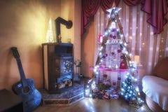 Um tipo diferente da árvore de Natal Fotografia de Stock