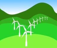 Um tiquetaque para a energia verde Foto de Stock Royalty Free