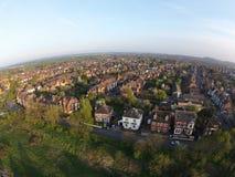 Um tiro aéreo da senhora Bay em Nottingham fotografia de stock