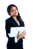 Um tiro isolado de uma mulher de negócios preta Imagem de Stock