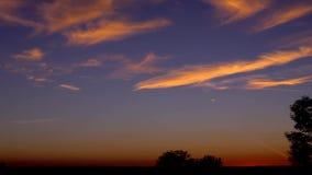 Um tiro protagoniza no céu noturno vídeos de arquivo