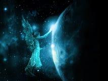 Um toque do anjo ilustração do vetor
