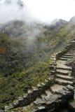 Um trajeto à maneira de alcançar Machu Picchu perdeu a cidade Fotos de Stock Royalty Free