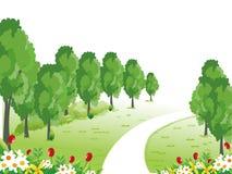 Um trajeto através do jardim Ilustração do Vetor
