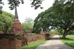 Um trajeto em Ayutthaya, Tailândia Fotografia de Stock