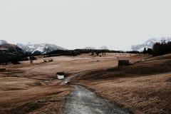 Um trajeto nas montanhas Fotos de Stock Royalty Free