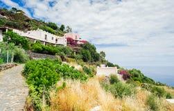 Um trajeto rochoso acima do monte, Alicudi Foto de Stock Royalty Free