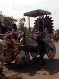 Um transporte puxado a cavalo Foto de Stock