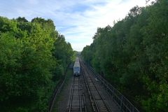 Um trem Fotos de Stock Royalty Free