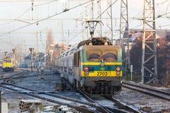 Um trem belga em Bruxelas B?lgica fotos de stock royalty free