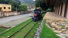 Um trem na exploração agrícola Imagens de Stock