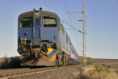 Um trem no Karroo Imagens de Stock Royalty Free