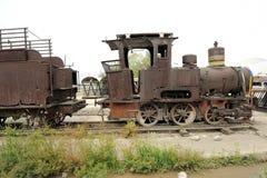 Um trem velho do vapor fotografia de stock