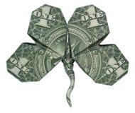 Um trevo da nota de dólar foto de stock