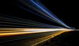 Um truque da luz Ônibus de Ghost Fotografia de Stock Royalty Free
