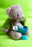 Um urso asmático Fotografia de Stock