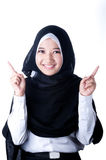 Um véu da mulher do país de Indonésia Imagem de Stock
