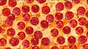 Um vídeo da pizza de pepperoni do fundo footage filme