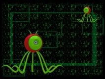 Um vírus de computador Imagens de Stock
