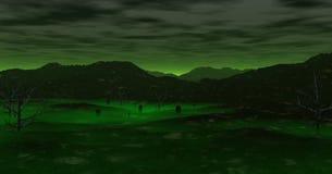 Um vale assombrado Fotografia de Stock