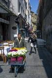 Um vendedor da flor em Istambul em Turquia Imagem de Stock
