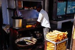 Um vendedor em Jaipur, Índia Imagens de Stock