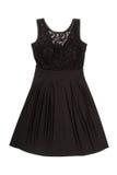 Um vestido de noite preto Fotografia de Stock Royalty Free