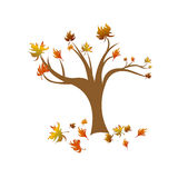 Um vetor abstrato da árvore do outono Imagem de Stock