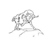 Um vetor Bull Imagem de Stock