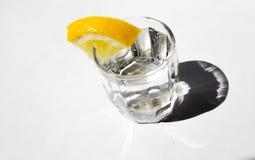 Um vidro com limão Imagens de Stock