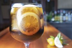 Um vidro da gim com cola foto de stock royalty free