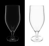 Um vidro de cocktail mais longo vazio isolado ilustração stock