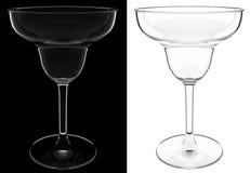 Um vidro de cocktail vazio isolado Ilustração do Vetor