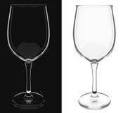 Um vidro de vinho vazio isolado Ilustração do Vetor
