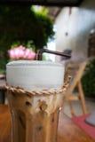 Um vidro do café congelado Foto de Stock Royalty Free