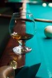 Um vidro do conhaque Foto de Stock Royalty Free