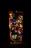 Um vidro do feriado fotos de stock